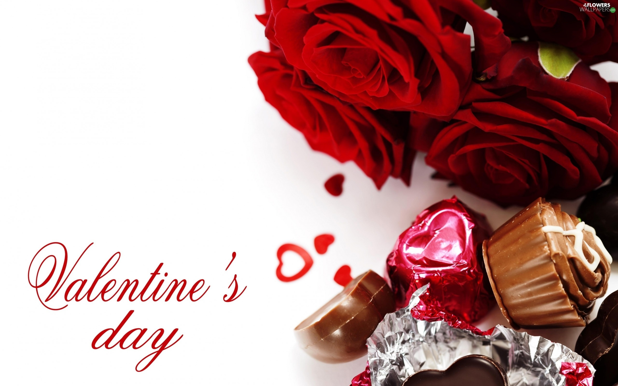 Roses pralines valentine 39 s day flowers wallpapers - Valentine s day flower wallpaper ...