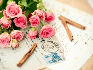 roses, list, bouquet