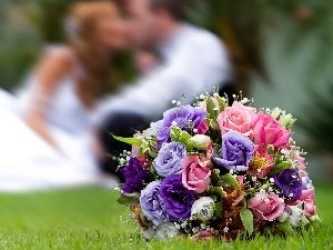 Steam, young, bouquet, flowers