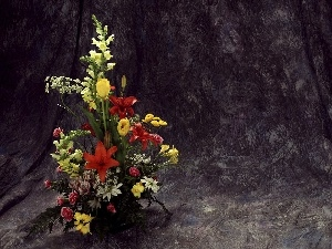 flowers, small bunch, Colorful