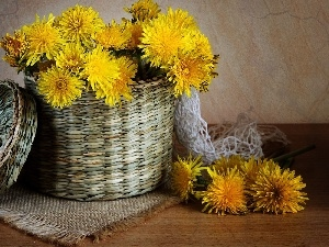 bouquet, basket, composition, flowers