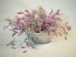 bouquet, flowers, Sea Lavender, Dry