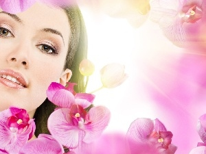 orchids, Women, make-up
