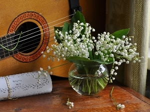 Tunes, lilies, Guitar